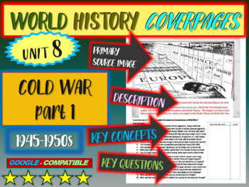 World History Unit 8 study guide:  COLD WAR 45-50s (Key Terms, Ideas, Qs & more)