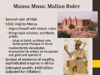 World History - Unit 9 (Islam in Africa) PPT with Notes
