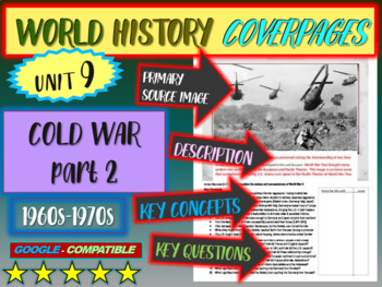 World History Unit 9 study guide: COLD WAR 60s-70s (Key Terms, Ideas, Qs & more)