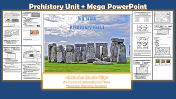 Pre-History Lesson Bundle + Power Point (NEW Updates)