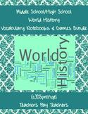 Middle/High School World  History Vocabulary SMART Notebook Bundle Marzano