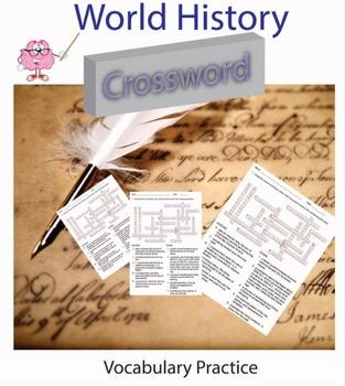 World History Vocabulary Practice Crossword Worksheets