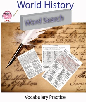 World History Vocabulary Practice Word Search