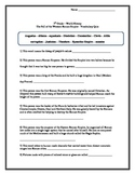 World History Vocabulary Quiz Set -500A.D. -1776A.D.-16 Ch