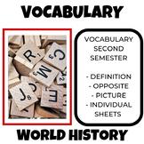 World History Vocabulary Second Semester