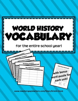 World History Vocabulary -- full year!
