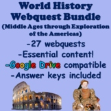 World History Webquest Bundle (Middle Ages to Exploration