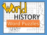 World History Word Puzzles Bundle