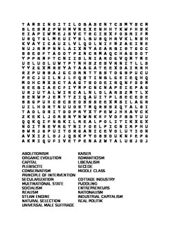 World History Word Search
