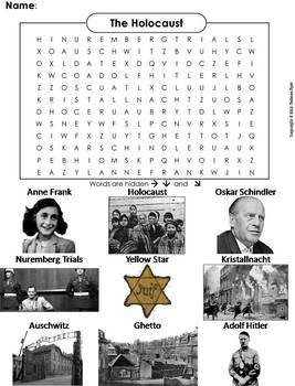World History Word Searches: Middle Ages, Holocaust, Crusades, World War I & II