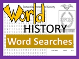 World History Word Search Puzzles