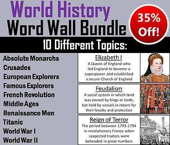 World History Word Wall Bundle