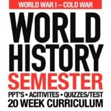 World History World War I to Cold War Second Semester Bundle GOOGLE DRIVE