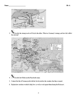 World History - World War II (1939-1945) Discussion/Essay Questions