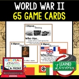 World History World War II 65 I Have Who Has Game Cards