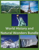 World History and Natural Wonders YEARLY Bundle Distance Learning