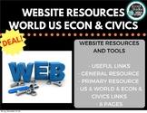 World History and US History and Civics and Economics Web