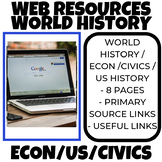 World History and US History and Civics and Economics Web