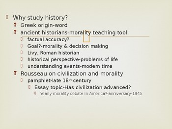 World History from 1500, powerpoint lecture, Introductory lecture