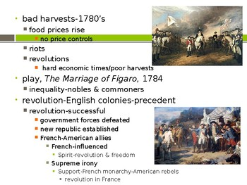 World History from 1500, powerpoint lecture,ch.21, Politics, 1775 to 1815
