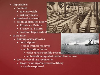 World History from 1500, powerpoint lecture,ch.27, The First World War