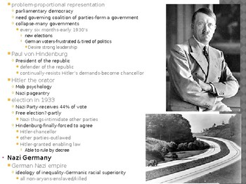 World History from 1500, powerpoint lecture,ch.30, The Second World War