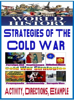 World History or U.S. History Strategies of the Cold War Foldable