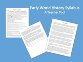 World History or World Studies Syllabus (Advanced Class)