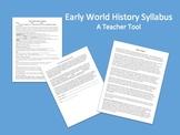 World History or World Studies Syllabus (Advanced Class)