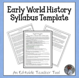 World History or World Studies Syllabus (General Level Classes)