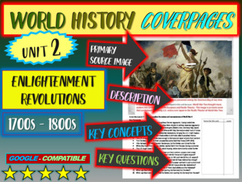 World History study guide 2: ENLIGHTENMENT REVOLUTIONS (Terms, Ideas, Qs & more)