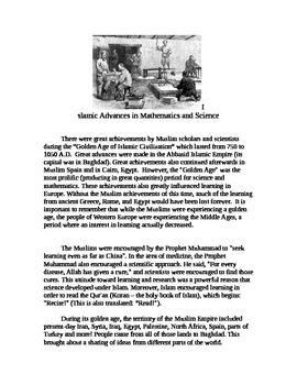 World History/Islamic Advancements in Science/Islamic Empi