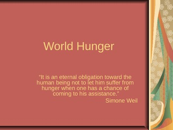 World Hunger
