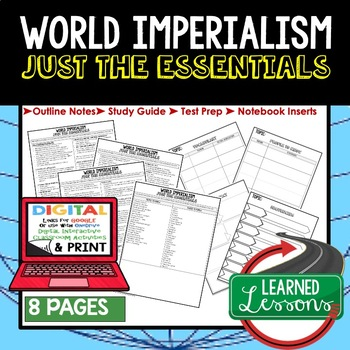 World Imperialism Outline Notes JUST THE ESSENTIALS Unit Review