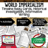 World Imperialism Timeline, Investigation, & Writing (Paper and Google )