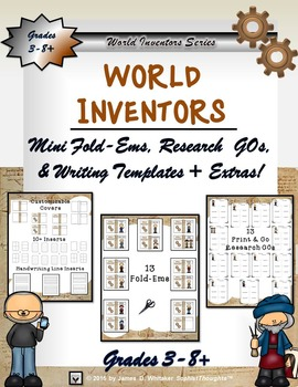 World Inventors Mini Research Fold-Ems and Activities