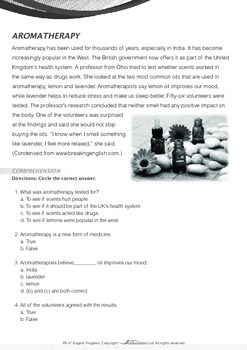 World Issues - Alternative Medicine: Aromatherapy - Grade 6