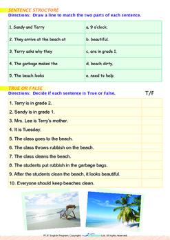 World Issues - Clean the Beach (I) - Grade 1