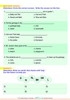 World Issues - Clean the Beach (II) - Grade 1