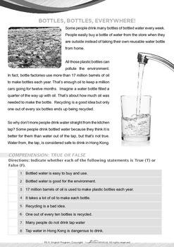 World Issues - Plastic Bottles - Grade 5