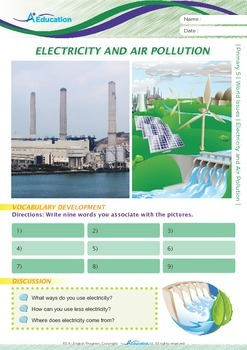 World Issues - Electricity and Air Pollution - Grade 5