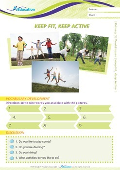 World Issues - Keep Fit, Keep Active - Grade 3