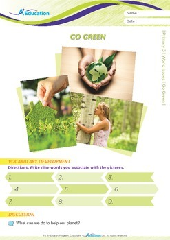 World Issues - Go Green - Grade 3