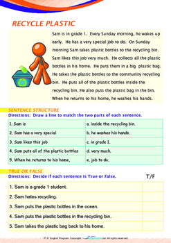 World Issues - Recycle Plastic (I) - Grade 1