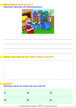 World Issues - Recycle Plastic (II) - Grade 1