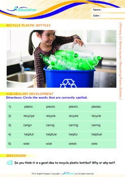 World Issues - Recycling Plastic Bottles - Grade 2
