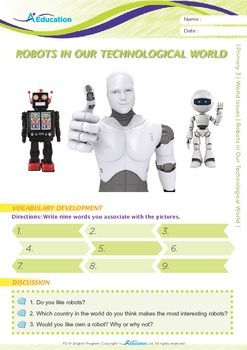 World Issues - Robots in Our Technological World - Grade 3
