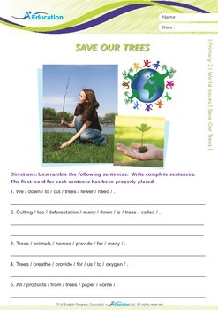 World Issues - Save Our Trees - Grade 3