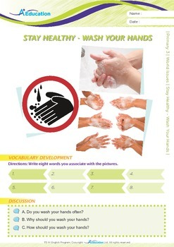 World Issues - Stay Healthy - Wash Your Hands - Grade 3