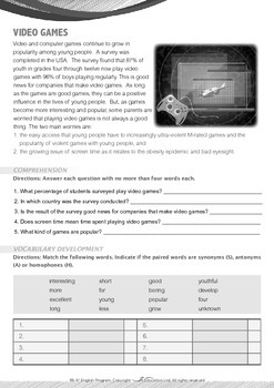 World Issues - Video Game - Grade 6